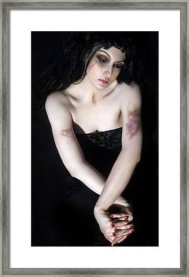 Emotionally Bruised - Self Portrait Framed Print by Jaeda DeWalt