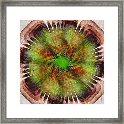 Empathic Reality Flower  Id 16164-033134-86030 Framed Print by S Lurk