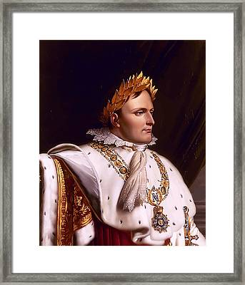 Emperor Napoleon Bonaparte  Framed Print by War Is Hell Store