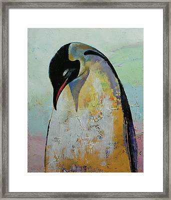 Emperor Penguin Framed Print by Michael Creese