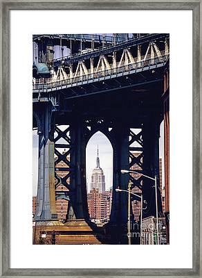 Empire Framed Framed Print by Joan McCool
