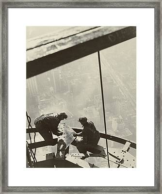 Empire State Building Framed Print by Lewis Wickes Hine