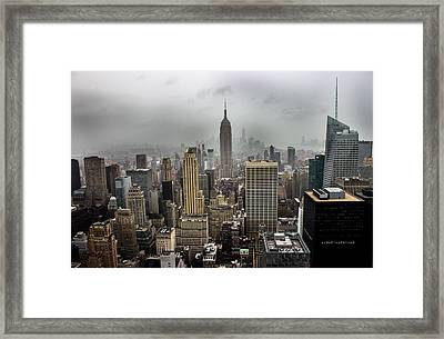 Empire State Building Framed Print by Martin Newman