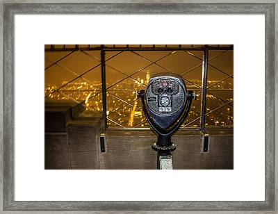 Empire State View Framed Print by Martin Newman