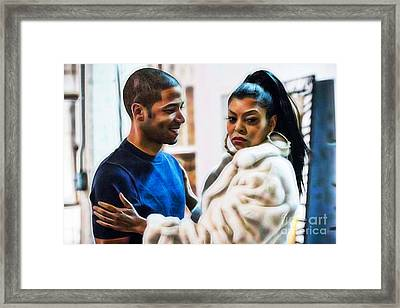 Empires Jussie Smollett As Jamal Lyon And Cookie Framed Print by Marvin Blaine