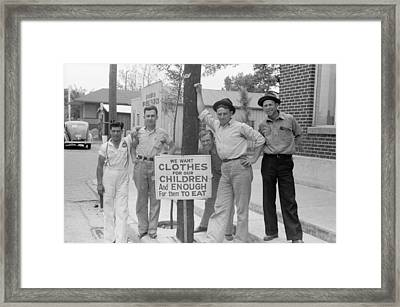 Employees Of Coca-cola Plant On Strike Framed Print by Everett