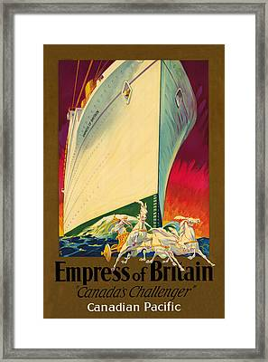 Empress Of Britain 1931 Framed Print by Andrew Fare