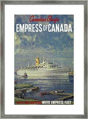 Empress Of Canada 1961 Framed Print by Andrew Fare