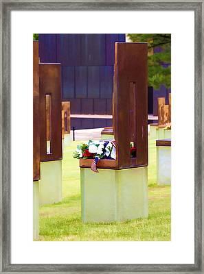Empty Chairs Framed Print by Ricky Barnard