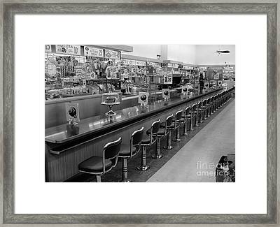 Empty Diner, C.1950-60s Framed Print by H. Armstrong Roberts/ClassicStock