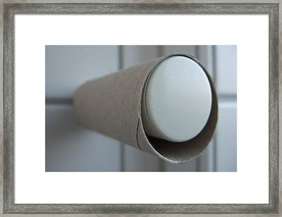 Empty Toilet Paper Roll Framed Print by Matthias Hauser