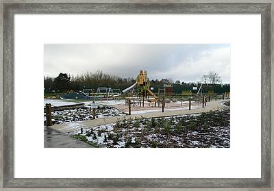Empty Winter Playground Framed Print by Adrian Wale