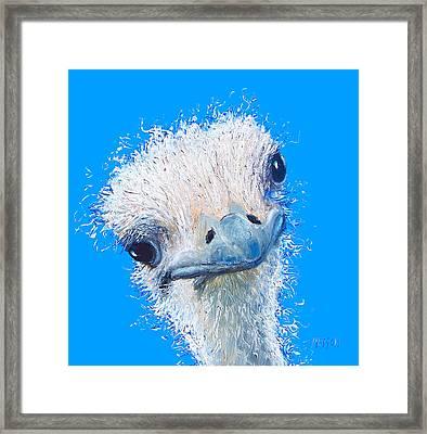 Emu Painting Framed Print by Jan Matson
