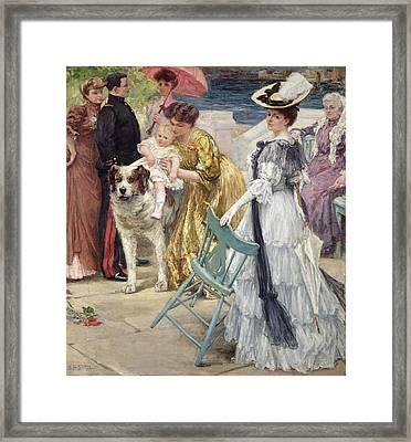 En Famille Framed Print by Gustave Grau