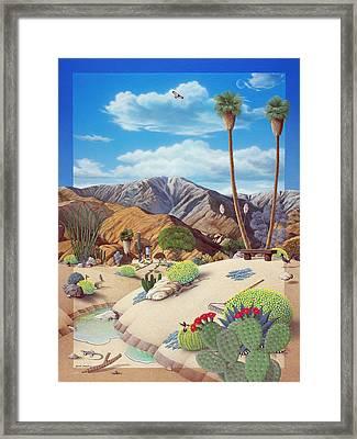 Enchanted Desert Framed Print by Snake Jagger