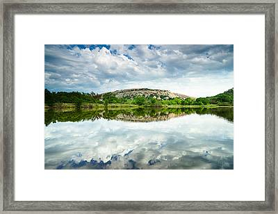 Enchanted Rock On A Cloudy Day - Texas Framed Print by Ellie Teramoto