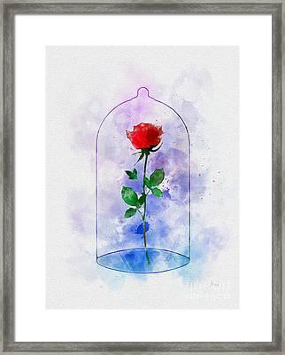 Enchanted Rose Framed Print by Rebecca Jenkins