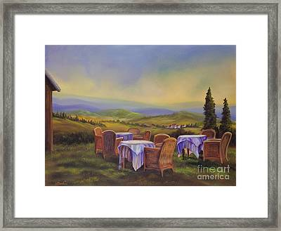 End Of A Tuscan Day Framed Print by Charlotte Blanchard