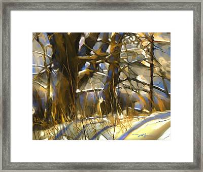 End Of A Winter's Day Framed Print by Bob Salo