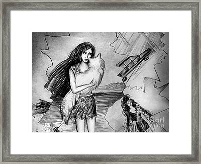 End Of Bad Romance Framed Print by Sofia Metal Queen
