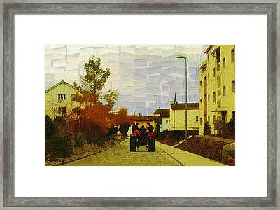 End Of Day Framed Print by Chuck Shafer