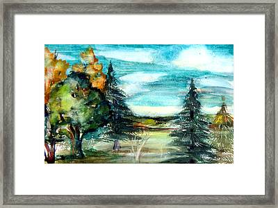 End Of Summer Framed Print by Mindy Newman