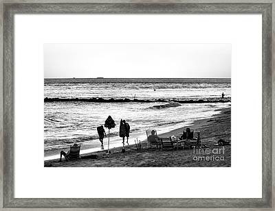 End Of The Day Framed Print by John Rizzuto