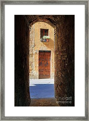 End Of The Tunnel Framed Print by Inge Johnsson