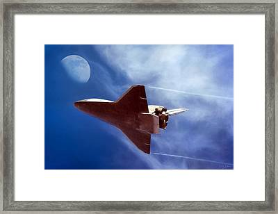 Endeavour Return Framed Print by Peter Chilelli