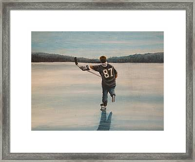 Endless Ice - Sid The Kid Framed Print by Ron  Genest