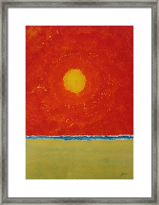 Endless Summer Original Painting Framed Print by Sol Luckman