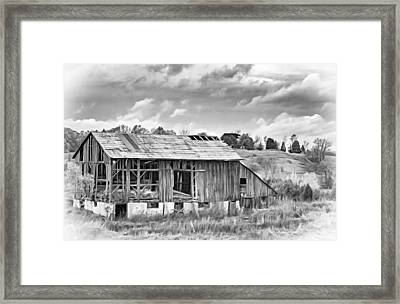 Endurance - Paint Bw Framed Print by Steve Harrington