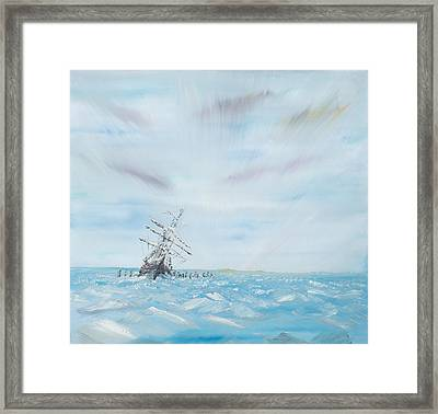 Endurance Trapped By The Antarctic Ice Framed Print by Vincent Alexander Booth