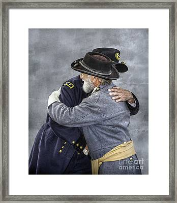 Enemies No Longer Civil War Grant And Lee Framed Print by Randy Steele