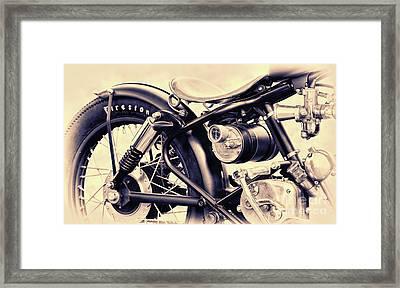 Enfield Bobber Framed Print by Tim Gainey