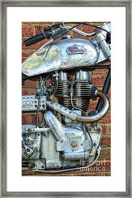 Enfield Scrambler Framed Print by Tim Gainey