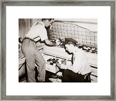 Enforcing Prohibition Framed Print by American School