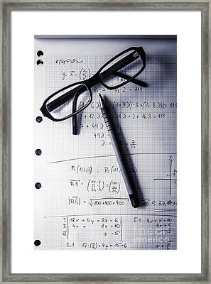 Engineering Student Calculations Framed Print by Jorgo Photography - Wall Art Gallery