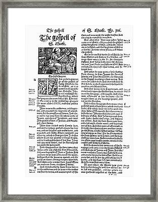 English Bible, 1535 Framed Print by Granger