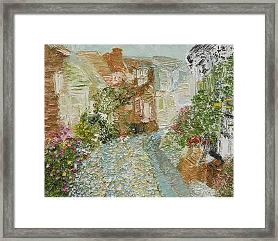 English Cobblestone Framed Print by Tara Leigh Rose