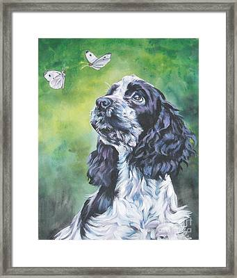 English Cocker Spaniel  Framed Print by Lee Ann Shepard