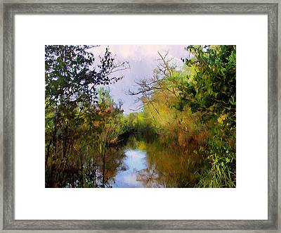 English Country Garden Framed Print by Georgiana Romanovna