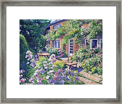 English Courtyard Framed Print by David Lloyd Glover
