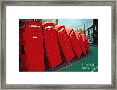 English Domino Effect Framed Print by Sarah Loft