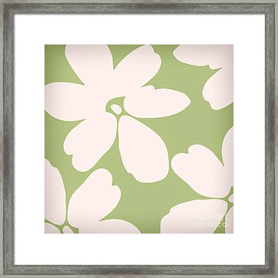 English Garden Floral Pattern Framed Print by Mindy Sommers