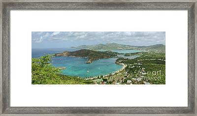 English Harbour Antigua Framed Print by John Edwards