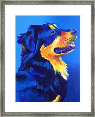 English Shepherd - Donut Framed Print by Alicia VanNoy Call