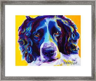 English Springer Spaniel - Emma Framed Print by Alicia VanNoy Call