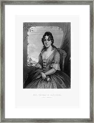 Engraved Portrait Of Mrs. Thomas Randolph, Martha Jefferson, Circa 1780 Framed Print by Peacock Graphics