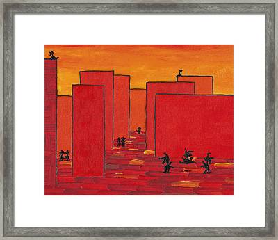 Enjoy Dancing In Red Town P2 Framed Print by Manuel Sueess